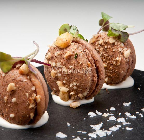 Macarones de foie