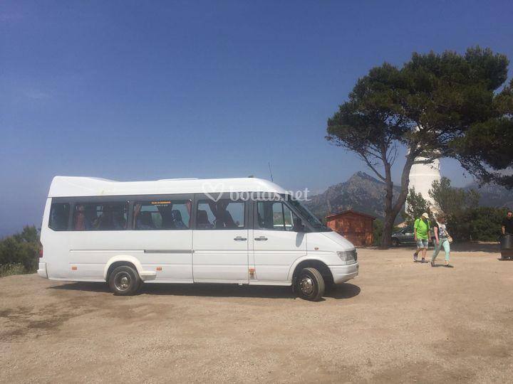 Minibús en Mallorca