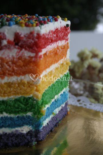 Tarta rainbow