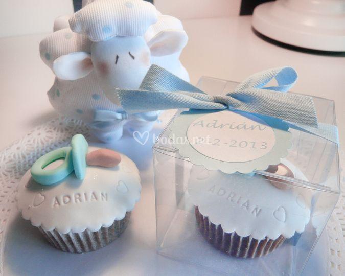 Cupcakes en bautizo