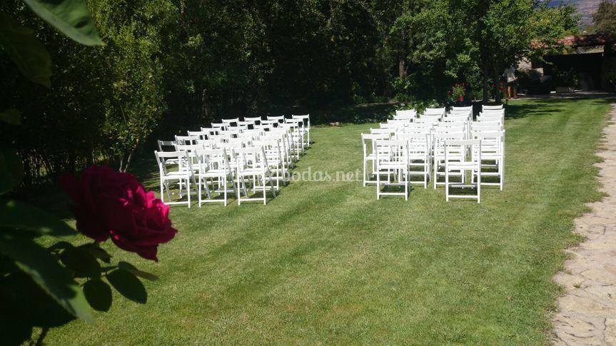 Preparación de la ceremonia