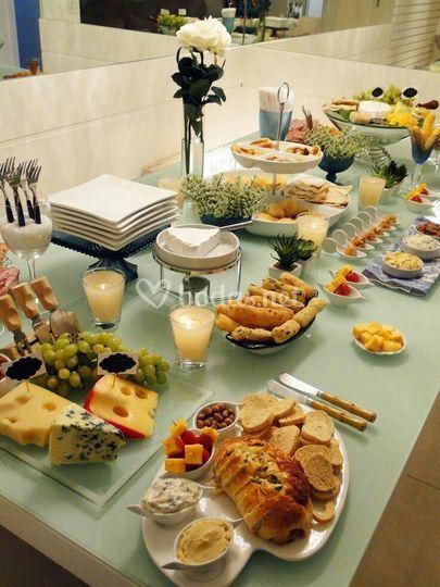 Mesa de quesos y más