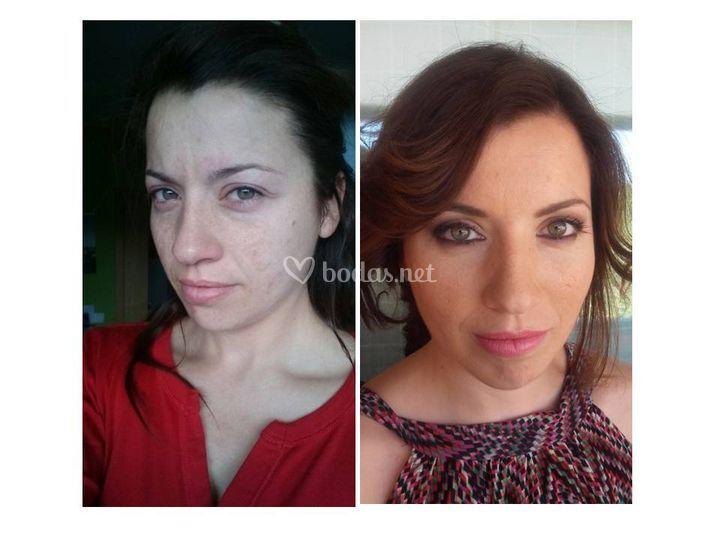 Maquillaje de la sesión postboda
