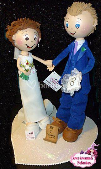 Pareja de fofuchas de boda