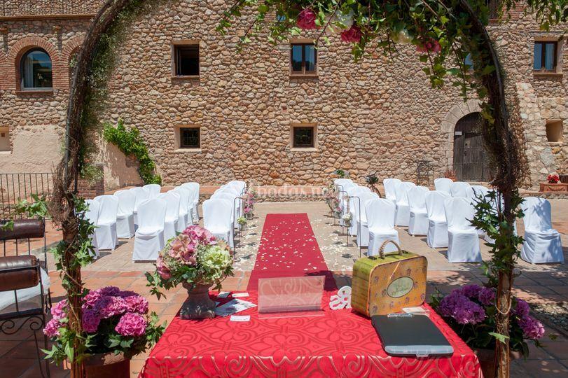 Ceremonia vista a la Masia