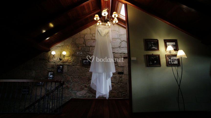 Espectacular vestido de Silvia