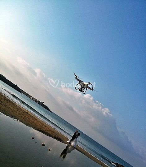 Rodaje Drone playa