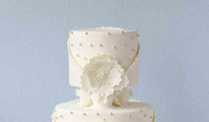 Tarta de boda blanca