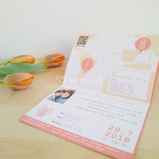 Invitación estilo pasaporte