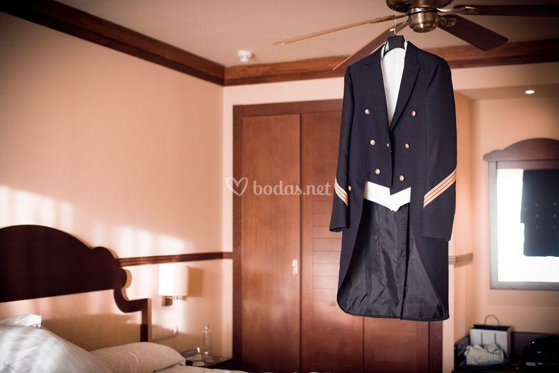 El traje del novio preparado