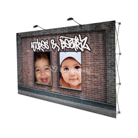 Photocall con fotos de bebé
