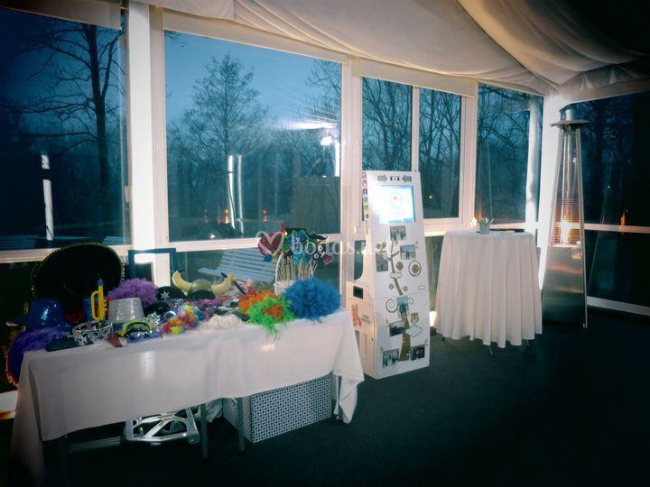 Espacio fotomatón boda