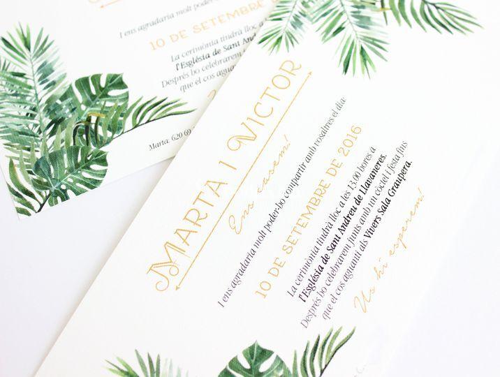 Invitaciones tropicales