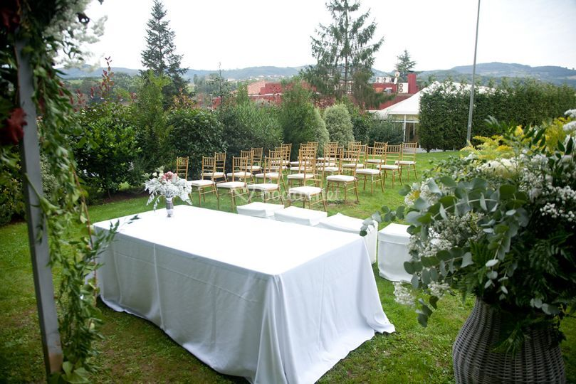 Ceremonia civil jardín