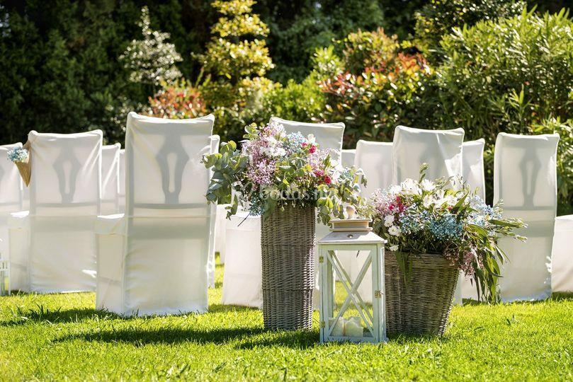 Flores jardín ceremonia