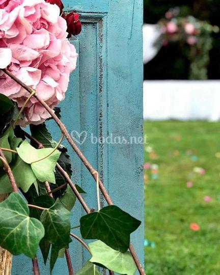 Detalle puerta jardín