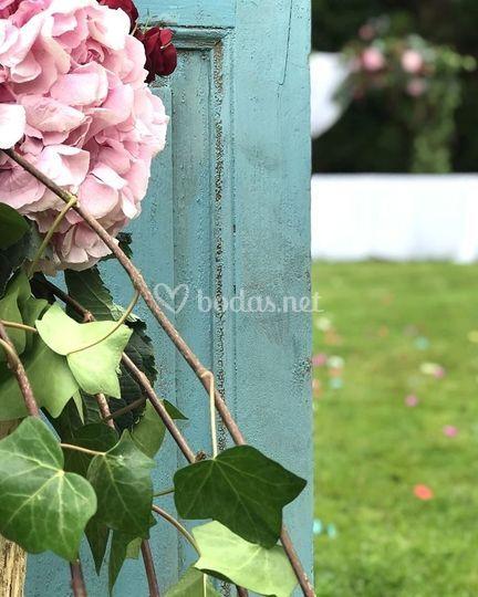Detalle marco jardín