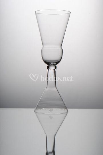 Copa de cristal de bohemia