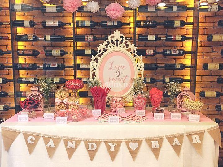Candy Bar romántico