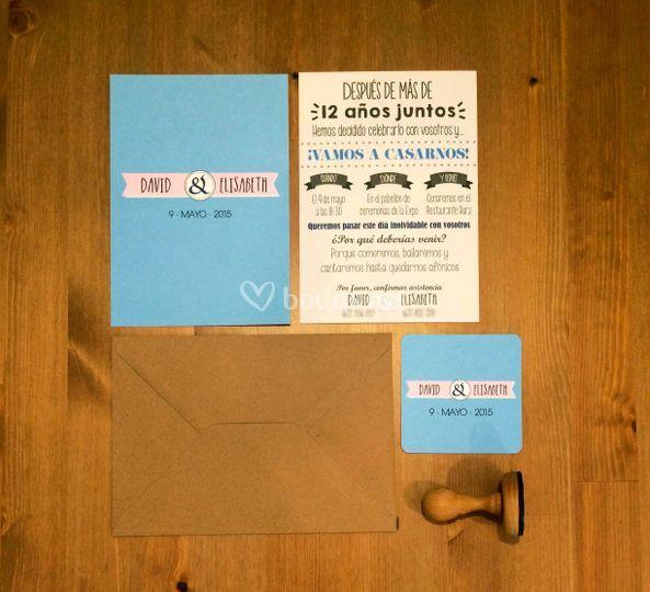 Invitaciones tipográficas