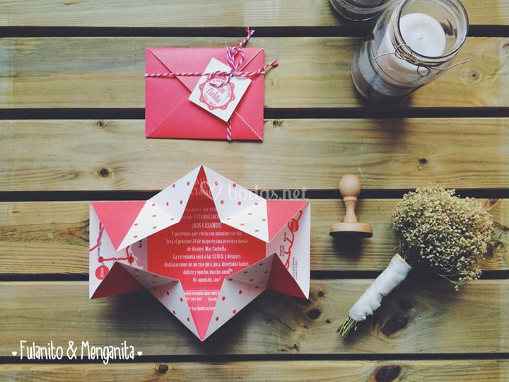 Invitaciones estilo origami