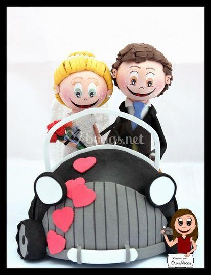 Coche para tarta de boda