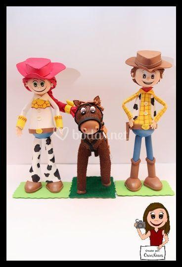 Pareja Toy Story con Perdigón