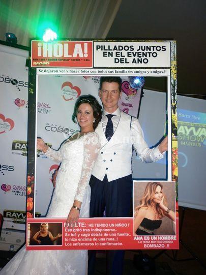 Photocall revista Hola!
