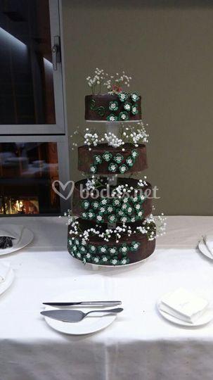 Tarta de boda para 150 invitados