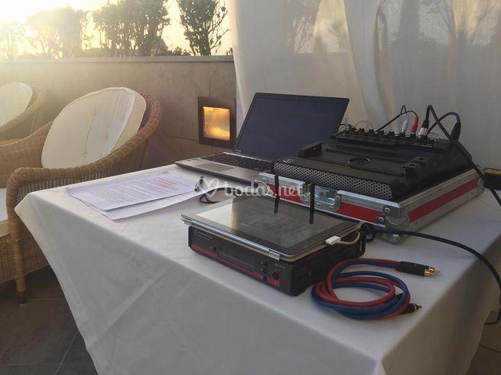 Control microfonía Ceremonia