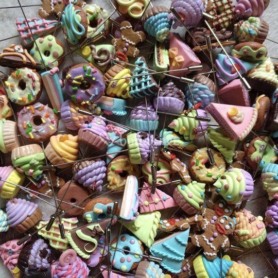 Alfileres dulces: tonos pastel