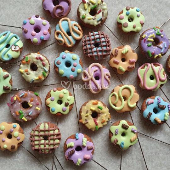 Alfileres dulces: donuts