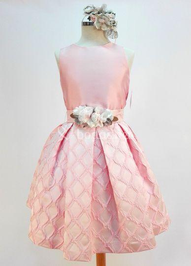 Mikado y brocado en rosa