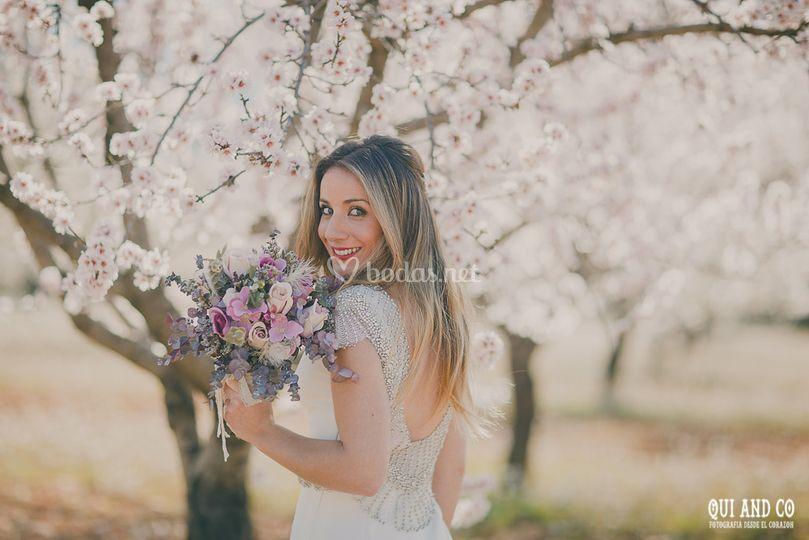 Postboda almendros en flor