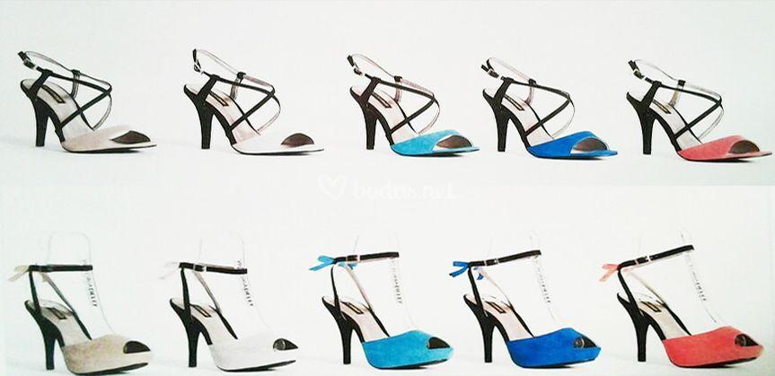 Zapatos fiesta colores