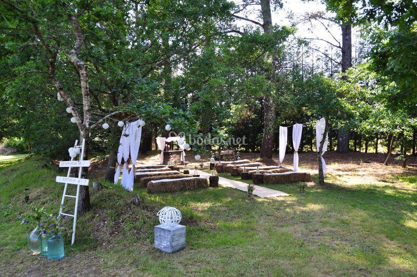 Bosque para ceremonia