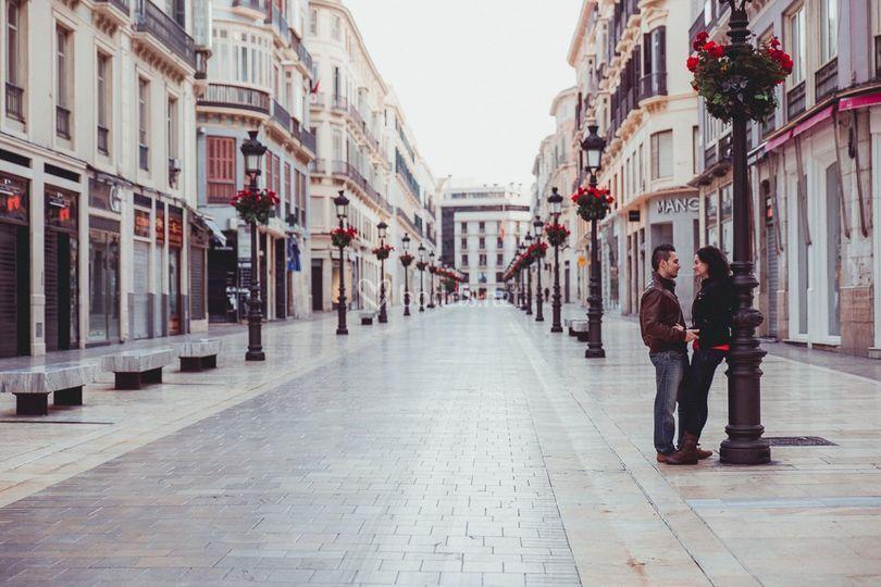 Preboda en Calle Larios