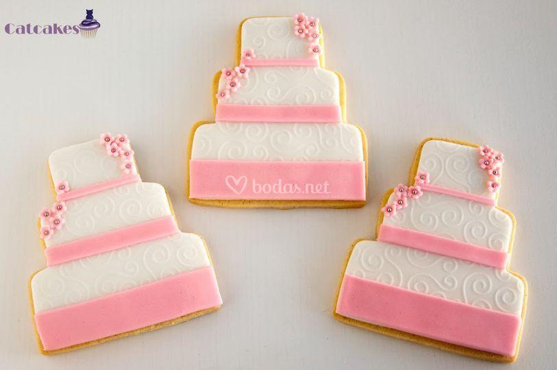 Galletas tarta de boda