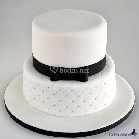 Tarta blanco y negro
