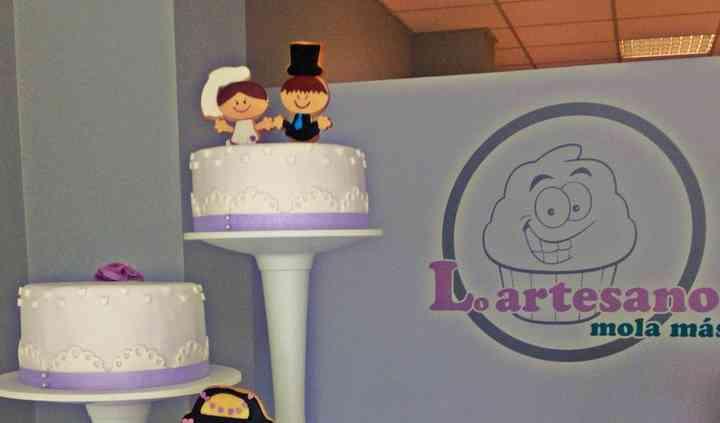 Tarta de boda informal