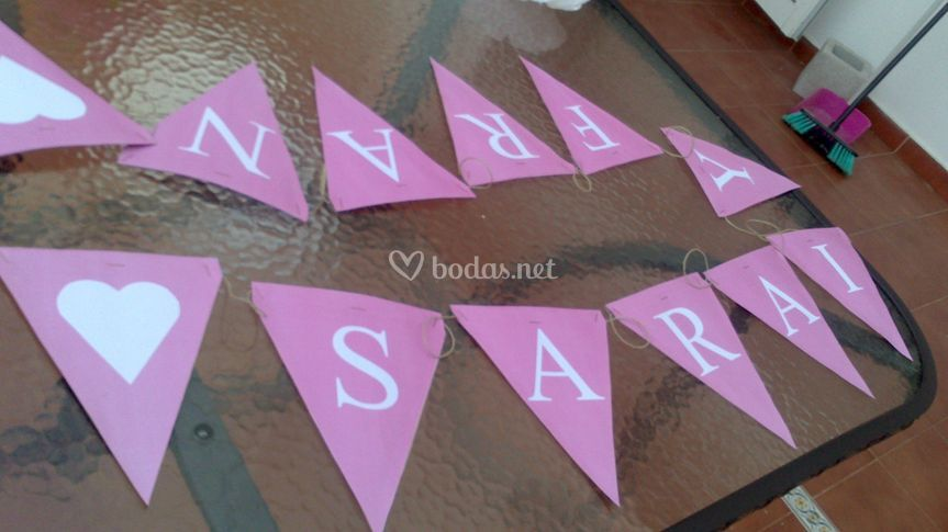 Banderín para la decoración