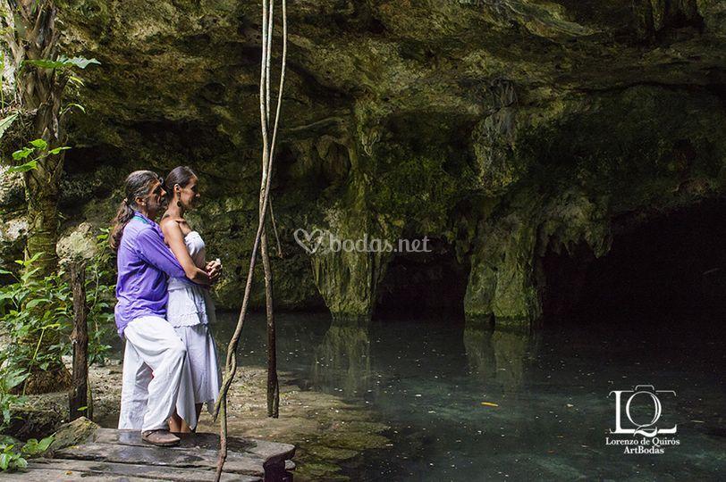 En un Cenote
