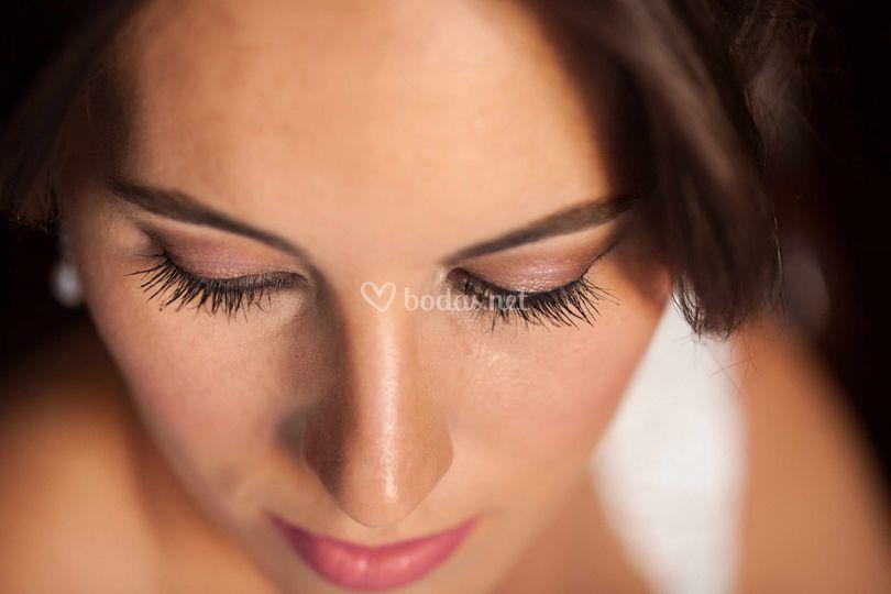 Detalle maquillaje Isabel