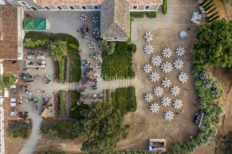 Foto aérea del aperitivo