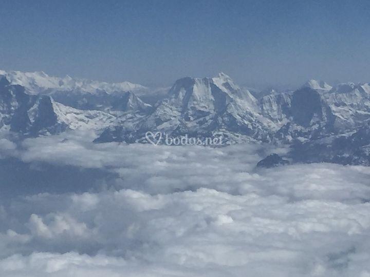 Himalaya desde el avión