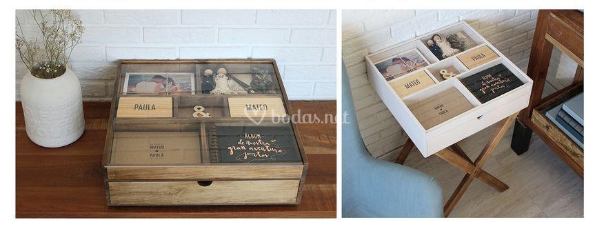 Álbum/caja madera