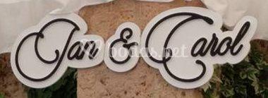 Letras decorativas Boda