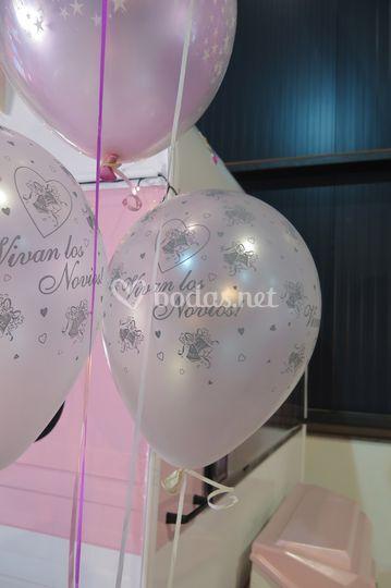 Exterior decoración globos