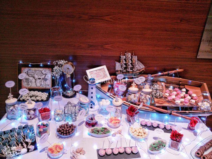 Mesa dulce temática
