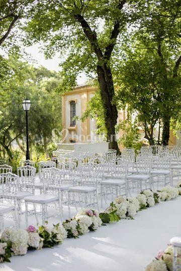 Ceremonia en la hacienda del álamo